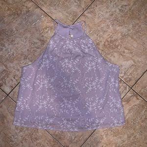 Francesca's purple floral halter top